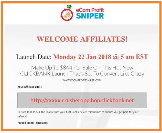 ecom-profit-sniper-affiliates-page
