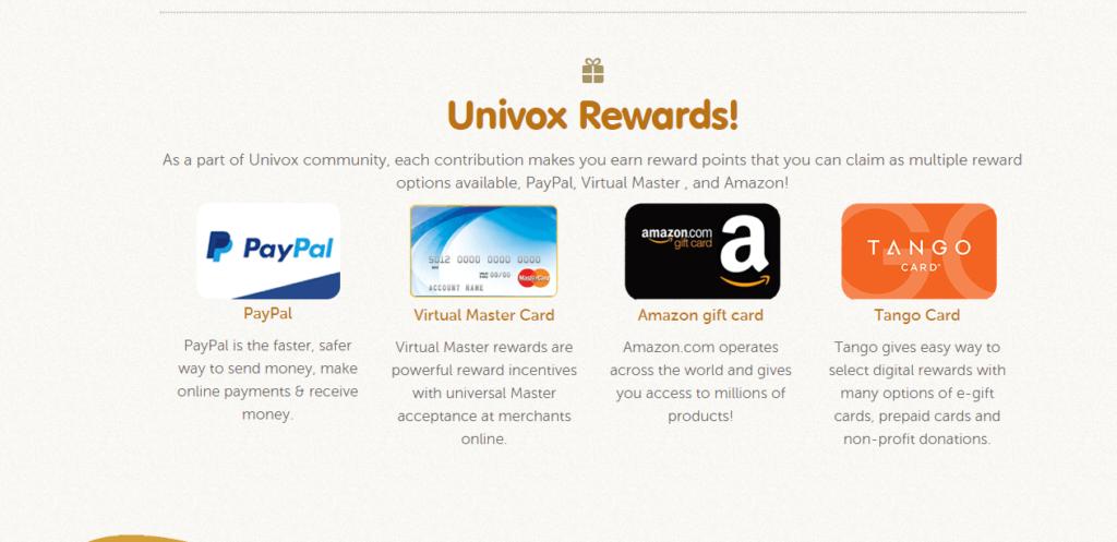 Univox-Rewards