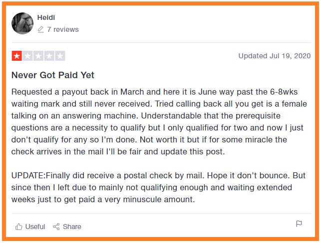 SurveySavvy-Negative-Review-About-Non-Payment