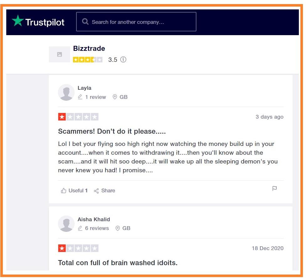 BizzTrade-trustpilot-reviews
