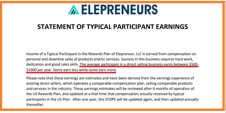 Elepreneurs-Statement-of-Typical-Participant-Earnings