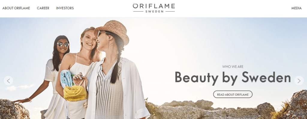 Oriflame-Landing-Page