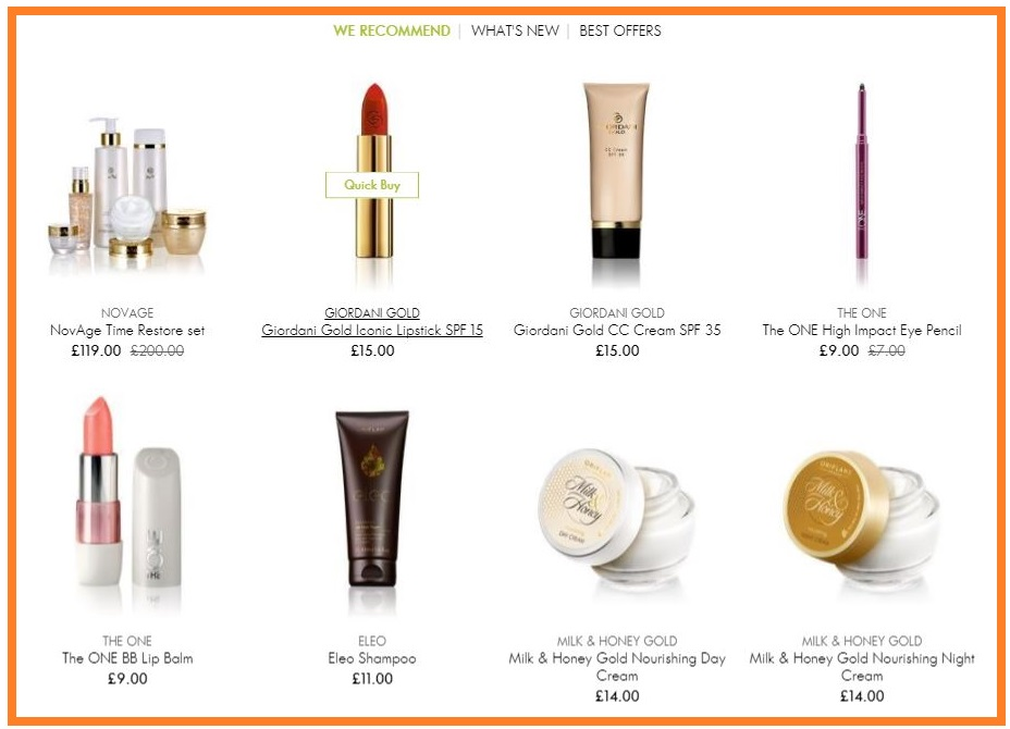 Oriflame-Recommended-Products